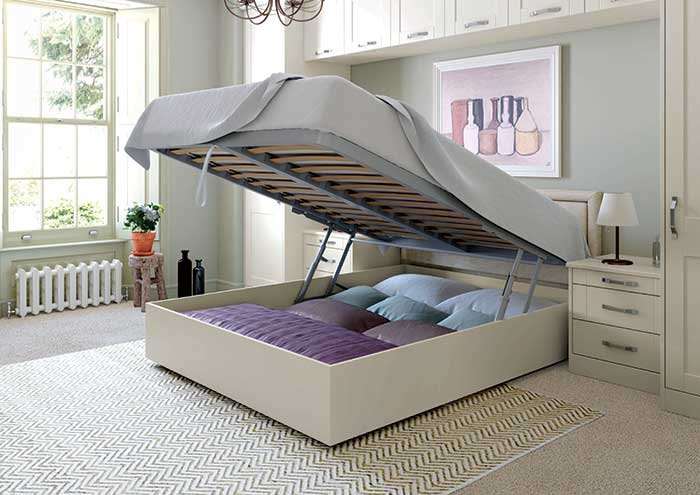 Georgia Lift-up Storage Bed Open Cameo