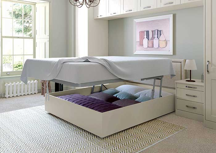 Georgia Lift-up Storage Bed Vertical Open Cameo